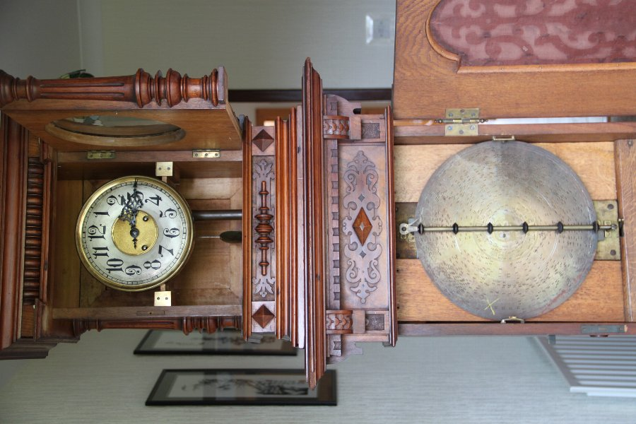 ANTIQUE GERMAN MUSICAL CLOCK by LENZKIRCH