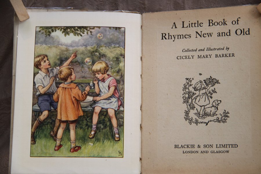 A little book of Rhymes Old & New. Children`s book, fairy`s, fairies,