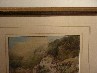 Antique Two signed watercolour by Edward William Trick