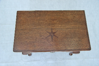 Antique Good 19th Century Antique Oak Lowboy/ Side lamp Table, With Superb Inlays