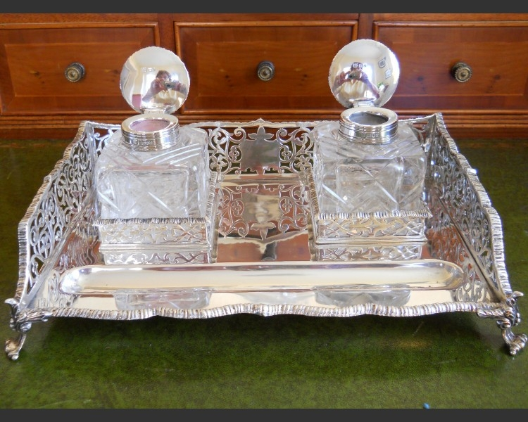 Antique Thomas Bradbury Inkstand