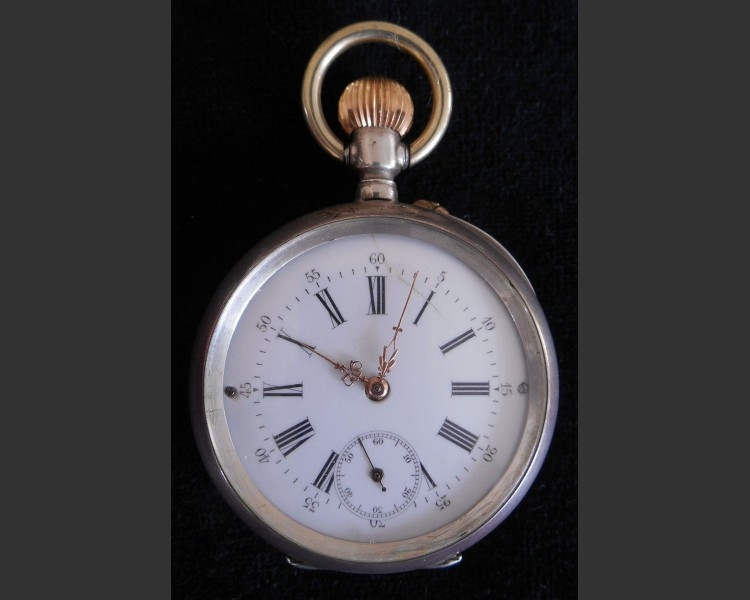 Silver Open Faced Pocket Watch