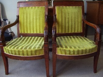 Antique  Pair of 19th century French Empire style Chairs