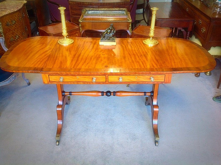 Georgian satinwood sofa table