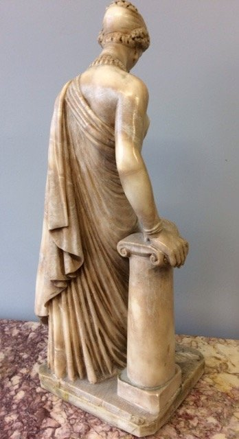 Antique 19th century  neoclassical marble statue of a goddess