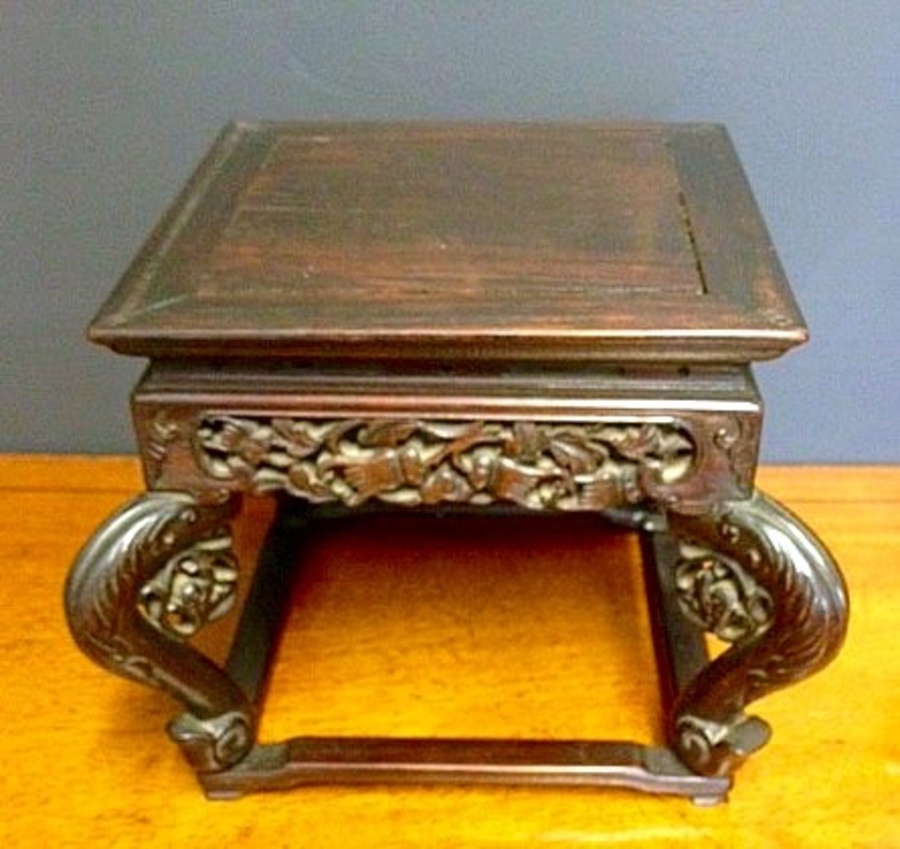 Chinese small hardwood curio stand