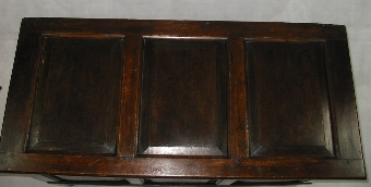 Antique 18thC Georgian Oak Coffer with rectangular raised fielded panels