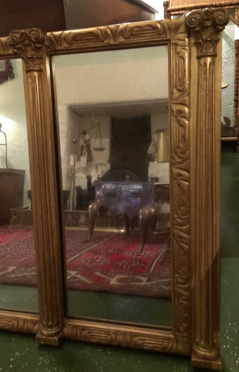 Antique 19thC Overmantel Mirror