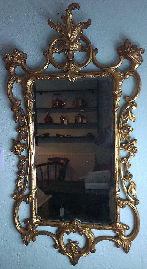 Antique 19thC Carved and Gilt Mirror