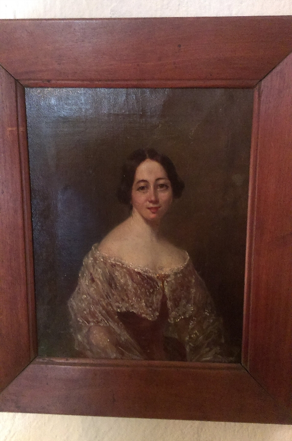 Oil on Canvas - Mid 19thC Lady
