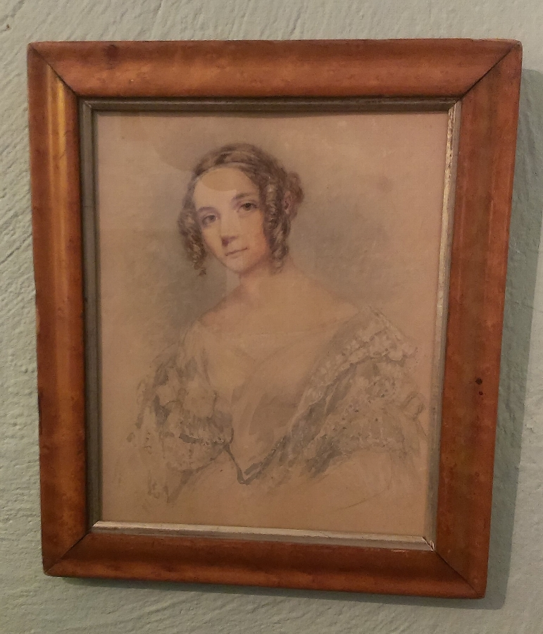 Watercolour Portrait of a young Lady Circa 1840.