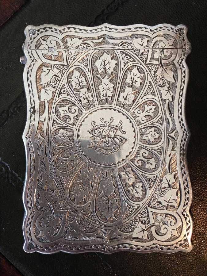 Antique Victorian Sterling silver Calling Card Case