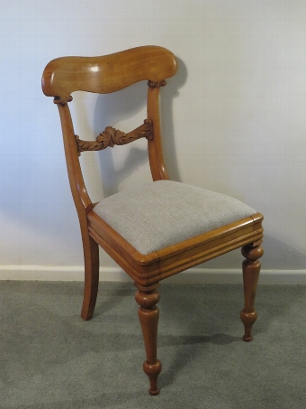 Antique Pair Of Decorative C19th Carved Oak Side Chairs