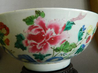 Antique Large Chinese famille rose bowl 18th century