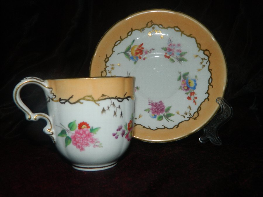 Minton cup and saucer 1850