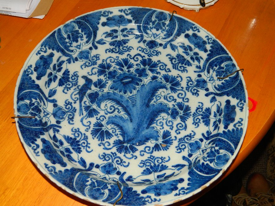 Antique Bristol Delft charger 1720