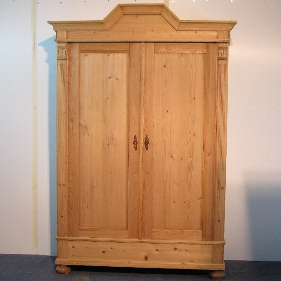 Elegant & tall (double door) antique wardrobe/cupboard C.1900