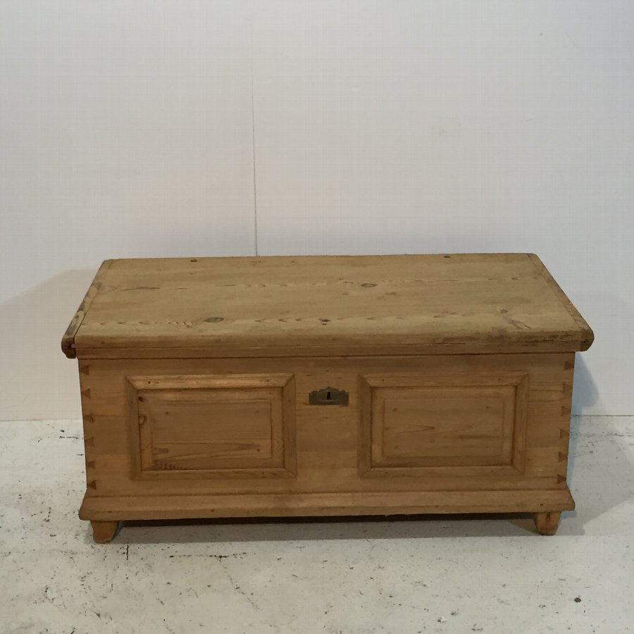 Mid 1800's Old Pine blanket Chest