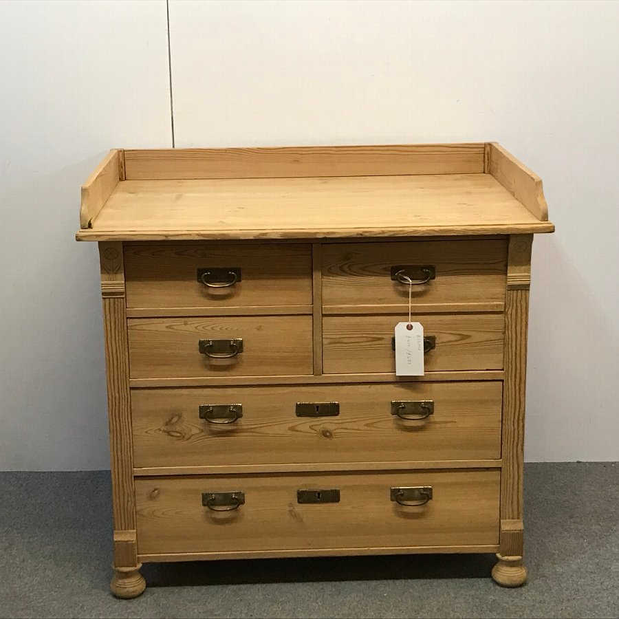 ANTIQUE PINE BANK OF DRAWERS (BABY CHANGING STATION)