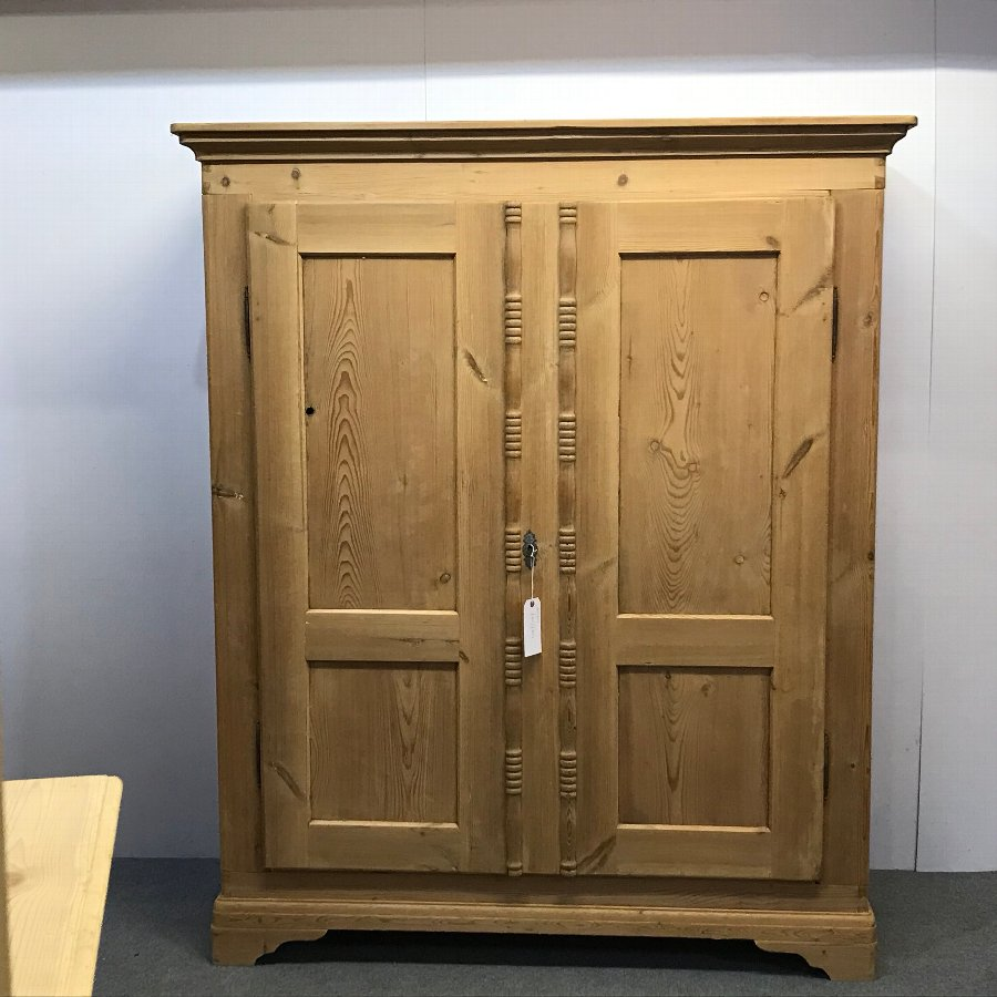 LATE 1800'S PINE DOUBLE WARDROBE (DISMANTLES)