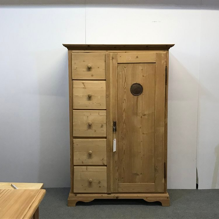 LARGE OLD PINE FARMHOUSE LARDER CUPBOARD