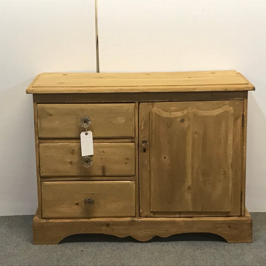 SMALL OLD ENGLISH RUSTIC PINE SIDEBOARD