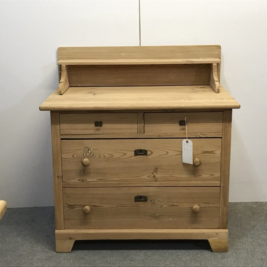 Antique ANTIQUE PINE CHEST OF DRAWERS WITH DISPLAY STAND