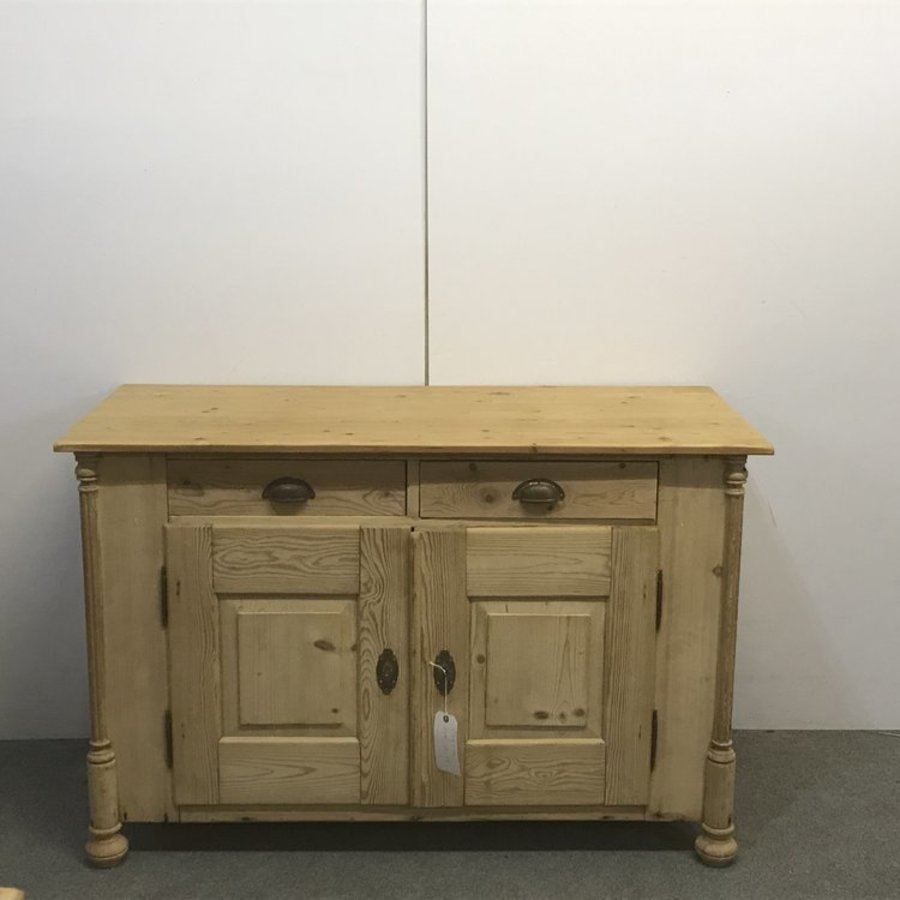 ATTRACTIVE OLD PINE FARMHOUSE DRESSER BASE / CUPBOARD