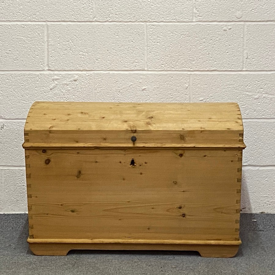 ANTIQUE PINE DOME TOP CHEST