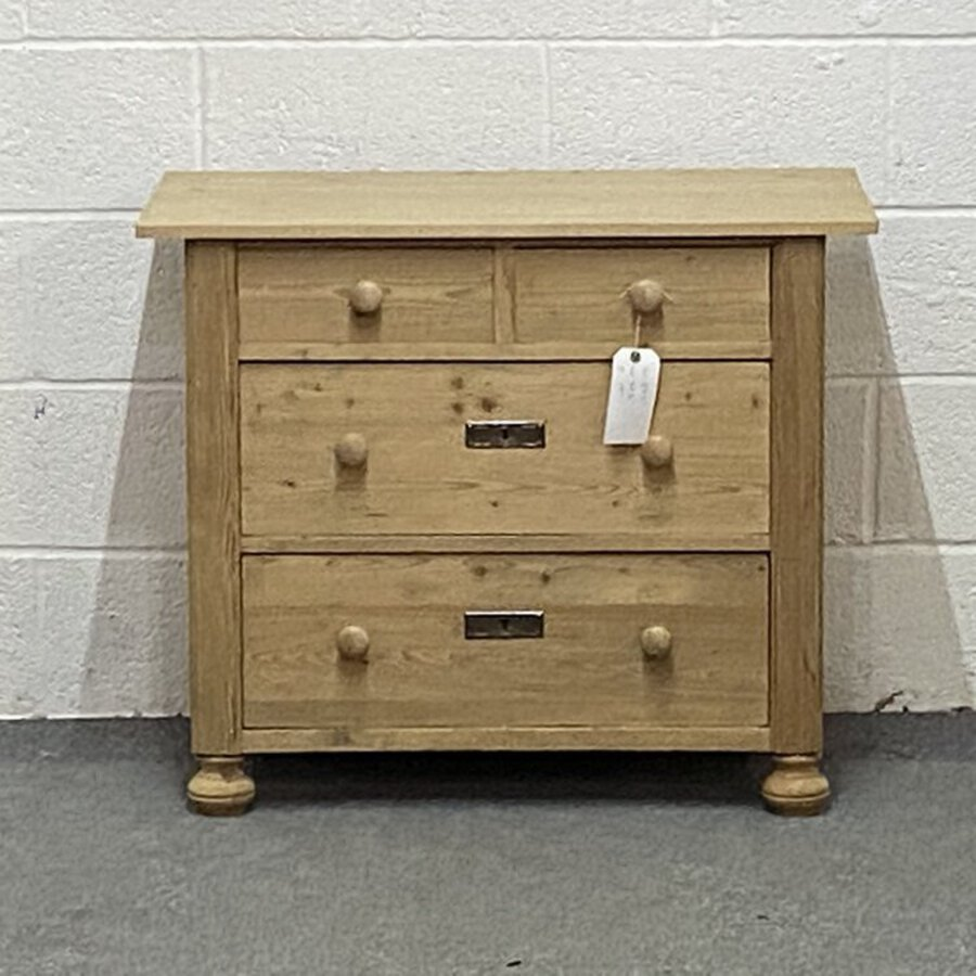 Antique Old Pine Chest Of Drawers (J2052A)