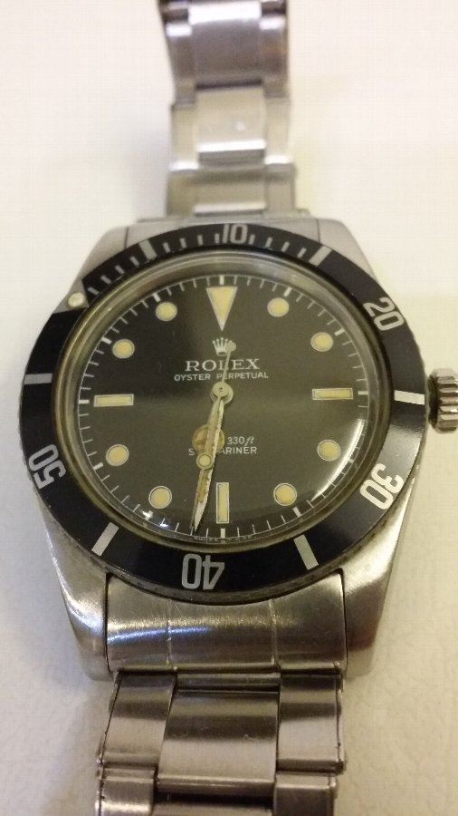 Antique James Bond 1958 Rolex Watch Oyster Perpetual Submariner (Ref: 5508)