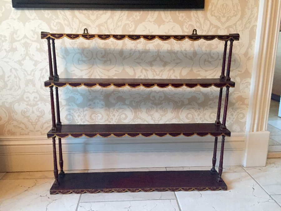 Antique 19th Century  Four Shelf Unit
