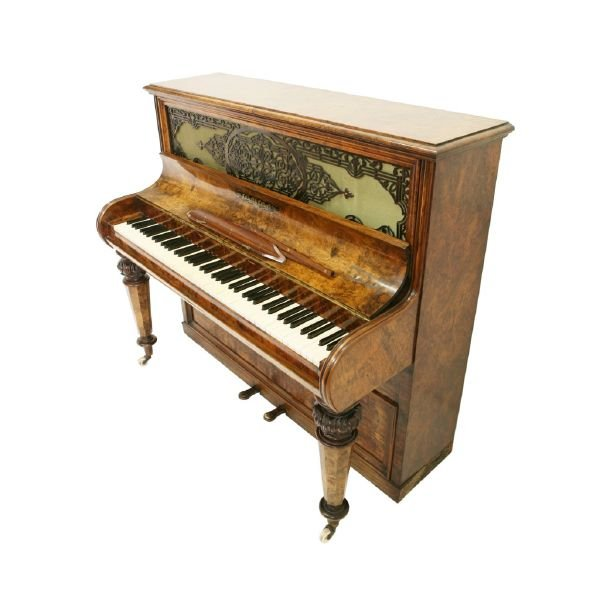 Piano Collard & Collard, 19th Century, Ivory, Ebony, Walnut Wood