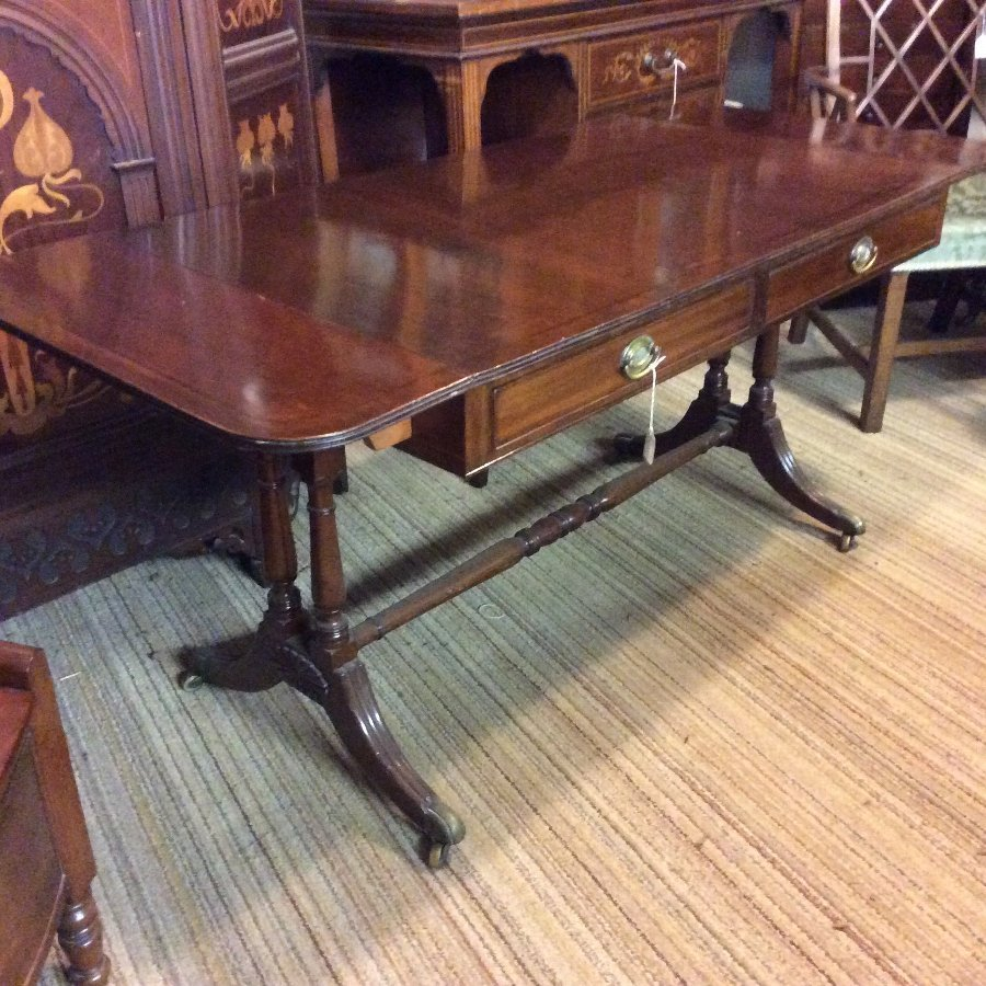 Antique Georgian mahogany sofa table