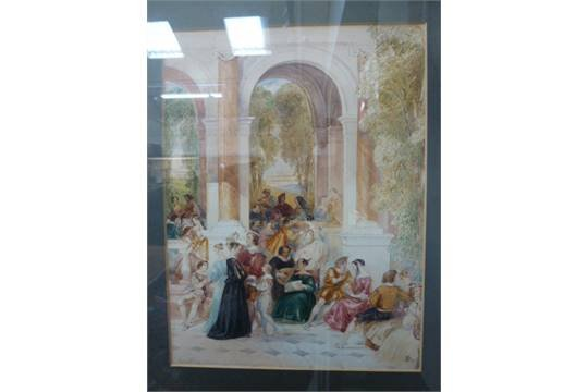 J. Franklin, Figures, signed,1837,watercolour