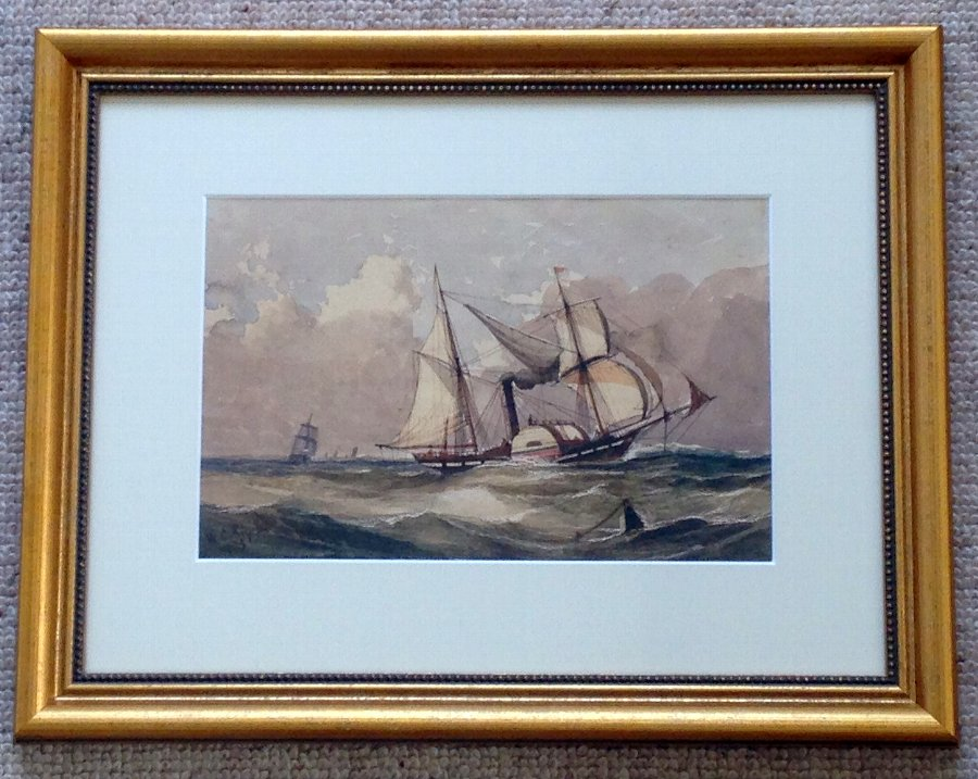 WILLIAM CALCOTT KNELL MARITIME WATERCOLOUR SIGNED & DATED 1851
