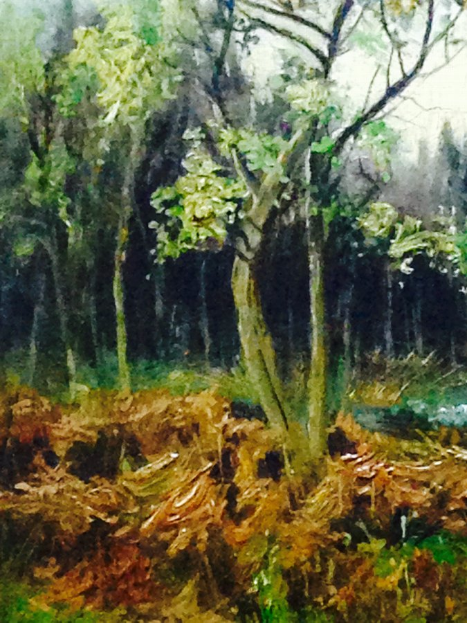 Antique VICTORIAN ANTIQUE WOODLAND LANDSCAPE OIL PAINTING SIGNED HENRY HADFIELD CUBLEY 1858-1934
