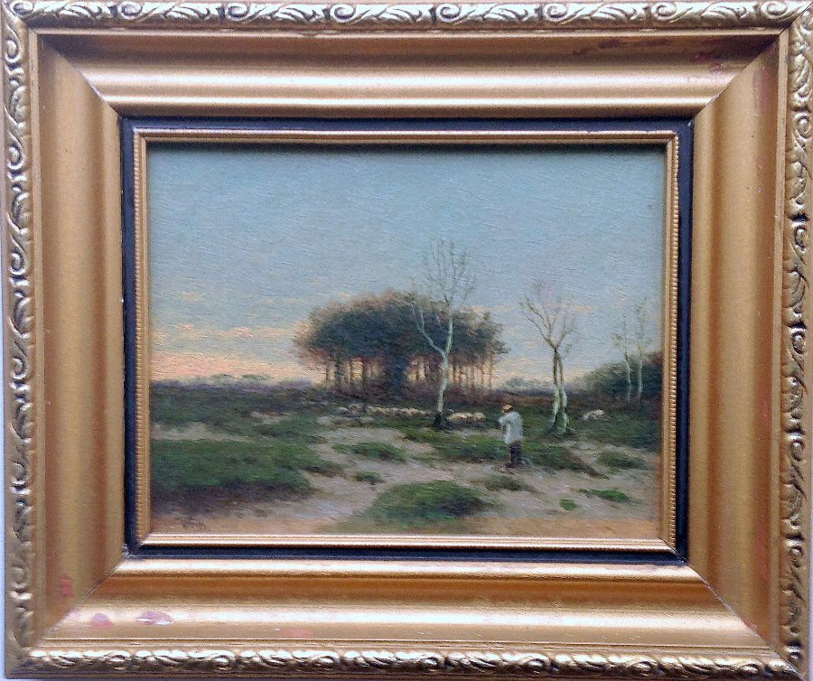 RARE ANTIQUE ORIGINAL LANDSCAPE OIL PAINTING WILLIAM FREDERICK HULK 1852-1906