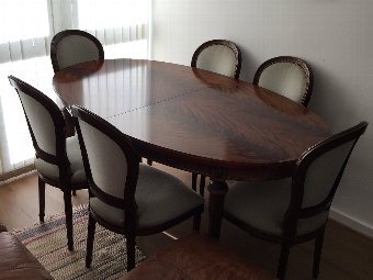 Antique Antique Italian Dining set with 6 chairs.