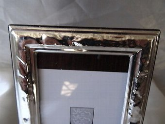 Antique Antique Italian Silver Hallmarked Small Picture Frame