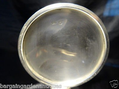 Antique Vintage 1930 Sterling Solid Silver Hallmarked Round Inkwell