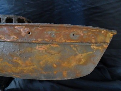 Antique Vintage Reproduction Rare Wooden Metal Maritime Nautical Boat Ship Rusted Wreck