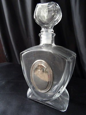Italian Cut Glass Scent/Perfume Bottle Silver Pretty Ladies Wedding Gift