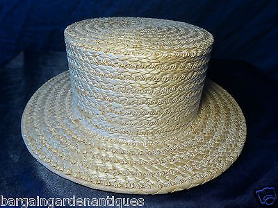 Vintage Gentlemans Summer Straw Hat Handmade By The York Hat Company