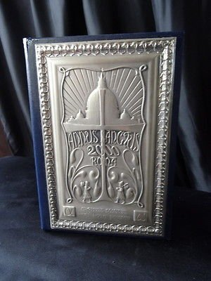 Hallmarked Italian Silver Inscribed Plaque Book/Diary/Planner/Organiser
