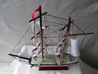 Vintage Reproduction Nautical Maritime Model Toy Display Sailing Tall Ship