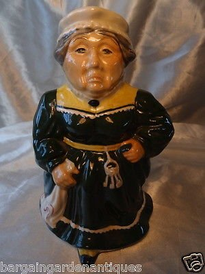 Vintage Roy Kirkham Mrs Bumble Toby Character Pottery Jug Hand Painted