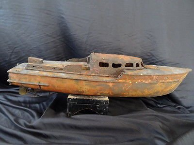 Vintage Reproduction Rare Wooden Metal Maritime Nautical Boat Ship Rusted Wreck