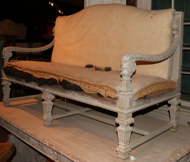 Antique  Bleached Oak Sofa