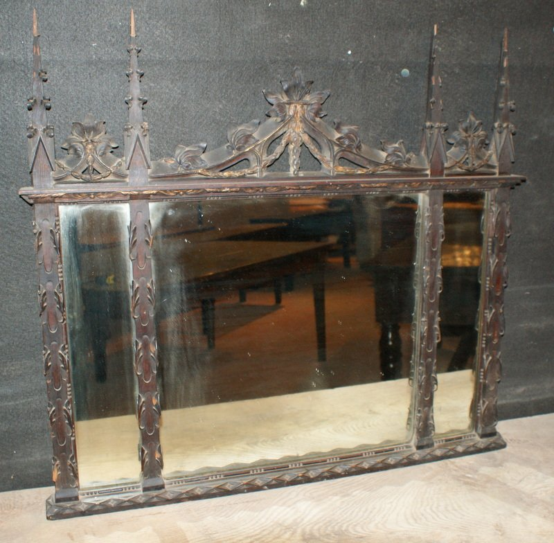 Carved Gothic Mirror